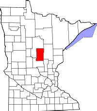 Map of Minnesota highlighting Crow Wing County
