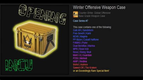 CS:GO ! Winter Offensive Weapon Case OPENING ! New Case