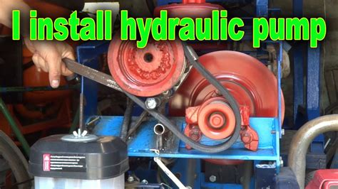 Install the pump hydraulics in garden tractor - YouTube