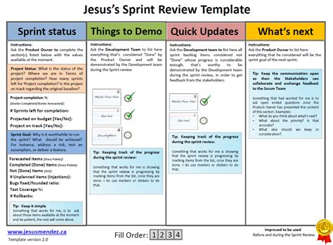 Techniques for improving the Sprint review Scrum | Jesus